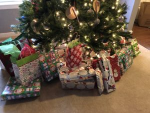 Donating Holiday gifts to families